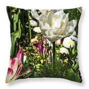 Chartres Garden White Throw Pillow