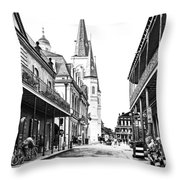 Chartres St In The French Quarter 3 Throw Pillow