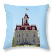 Chase County Courthouse In Kansas Throw Pillow