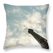 Chasing The Dream Paris Eiffel Tower Throw Pillow