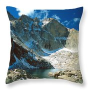 Chasm Lake Throw Pillow