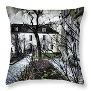 Chat Noir Gallery Paris France Throw Pillow