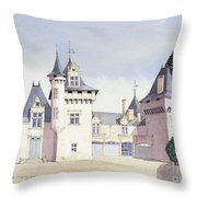 Chateau A Fontaine Throw Pillow