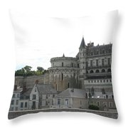 Chateau Ambois Rises Above Its Town Throw Pillow