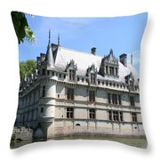 Chateau Azay-le-rideau From The Gardens  Throw Pillow