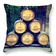 Chateau Barrels Throw Pillow