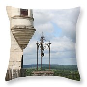 Chateau Baywindow And Well Throw Pillow