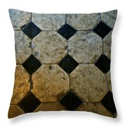 Chateau Brissac's Tile Floor Throw Pillow