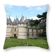 Chateau Chaumont From The Garden  Throw Pillow