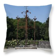 Chateau Chenonceau Well  Throw Pillow
