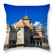 Chateau Chillon Throw Pillow