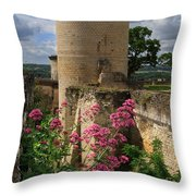 Chateau Chinon In The Loire Valley Throw Pillow