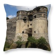 Chateau D'angers - France Throw Pillow