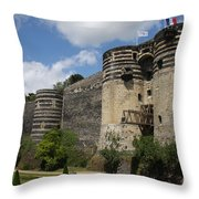 Chateau D'angers - The Keep Throw Pillow