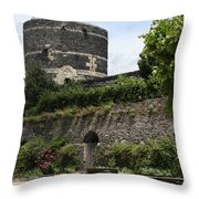 Chateau D'angers Tower Throw Pillow