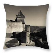 Chateau De Castelnaud With Hot Air Throw Pillow
