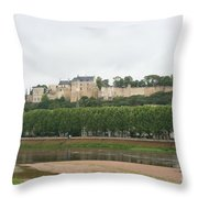 Chateau De Chinon - France Throw Pillow