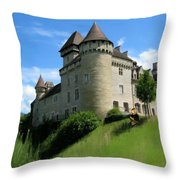 Chateau De Cleron Dans Le Doubs France Throw Pillow