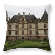 Chateau De Cormatin  And Garden - Burgundy Throw Pillow