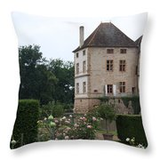 Chateau De Cormatin - Burgundy Throw Pillow