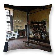 Chateau De Cormatin Kitchen - Burgundy Throw Pillow
