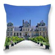 Chateau De Fontainebleau Ile De France Throw Pillow