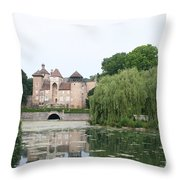 Chateau De Sercy - Burgundy Throw Pillow
