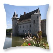 Chateau De Sully-sur-loire And Moat Throw Pillow