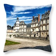 Chateau Fontainebleau - France Throw Pillow
