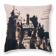 Chateau Fortified By Two Bridges Throw Pillow by Victor Hugo