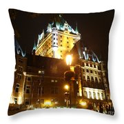 Chateau Frontenac At Night Throw Pillow