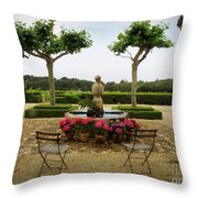 Chateau Malherbe Fountain Throw Pillow by Lainie Wrightson