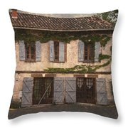 Chateau No 1 Rue Moulins France Throw Pillow