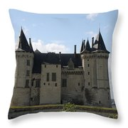 Chateau Saumur - France Throw Pillow