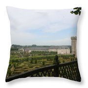 Chateau Vilandry And Garden View Throw Pillow
