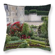 Chateau Villandry And The Cabbage Garden  Throw Pillow