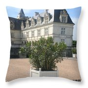 Chateau Villandry View Throw Pillow