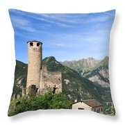 Chatelard Castle Throw Pillow