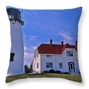 Chatham Light Throw Pillow by Skip Willits