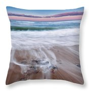 Chatham Sunset Throw Pillow by Bill Wakeley
