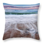 Chatham Sunset Square Throw Pillow by Bill Wakeley