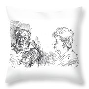Chating  Throw Pillow