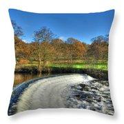 Chatsworth Weir Throw Pillow
