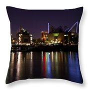 Chattanooga At Night Throw Pillow