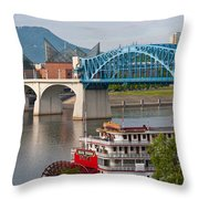Chattanooga Riverfront Throw Pillow