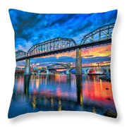 Chattanooga Sunset 3 Throw Pillow