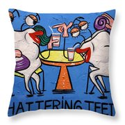 Chattering Teeth Dental Art By Anthony Falbo Throw Pillow