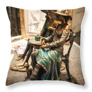 Chatting Ladies Of Royal Street Throw Pillow