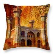 Chauburji Gate Throw Pillow