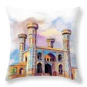 Chauburji Lahore Throw Pillow